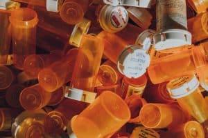 orange prescription bottle lot
